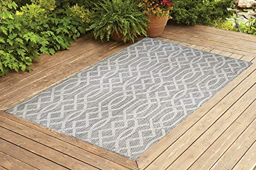 Benissimo Indoor Outdoor Rug Ribon Collection, Natural Sisal Woven and Jute Backing Area Rugs for Living Room, Bedroom, Kitchen, Entryway, Hallway, Patio, Farmhouse Decor 8×10, Beige