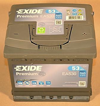 Exide Premium Car Battery EA530 53 Ah 12V