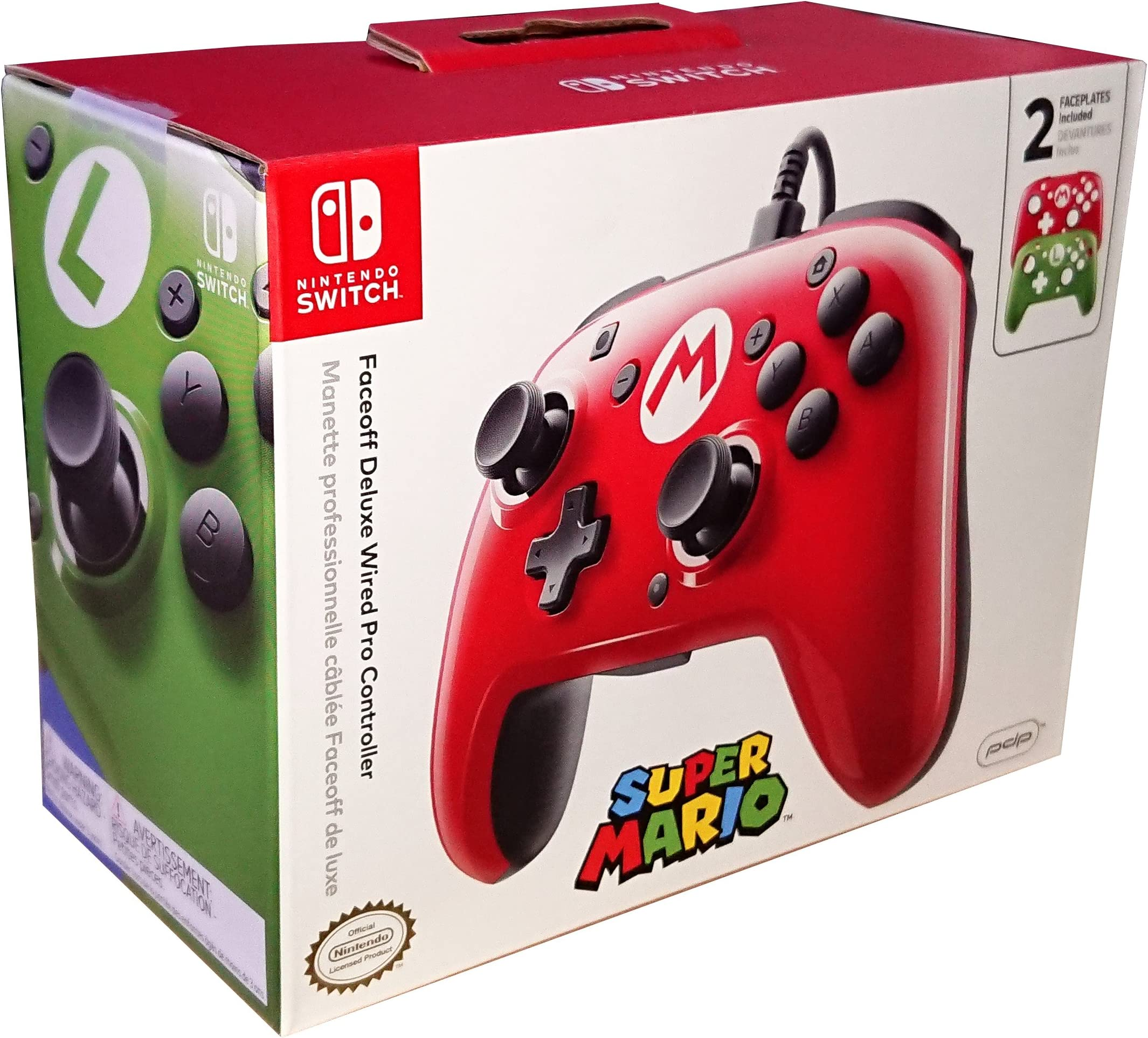 Amazon.com: PDP Nintendo Switch Faceoff Wired Pro Controller with 2 ...