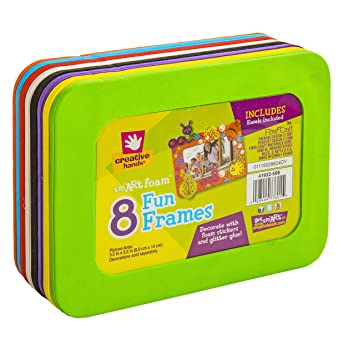 Amazon.com: Creative Hands Foam Fun Frames, 8 pack - Packaging May ...