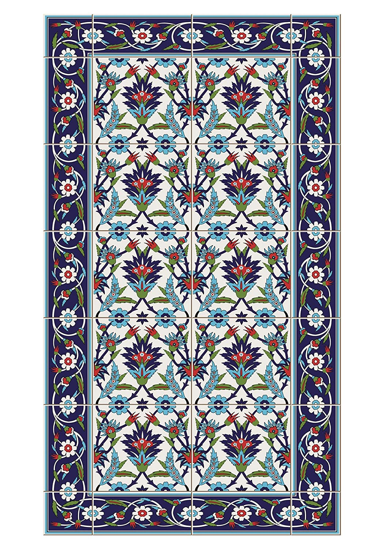 Huella Deco H1006-DO Fleurs Tappeto Doormate Mat Floor, Vinile, 40x70 cm Koeso Srl H1006/BA_Multicolore-70x40