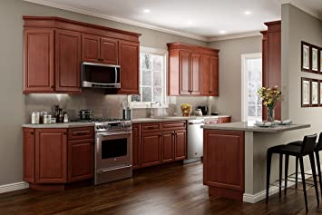 Amazon Com Quincy Solid Wood Kitchen Cabinets Furniture Decor