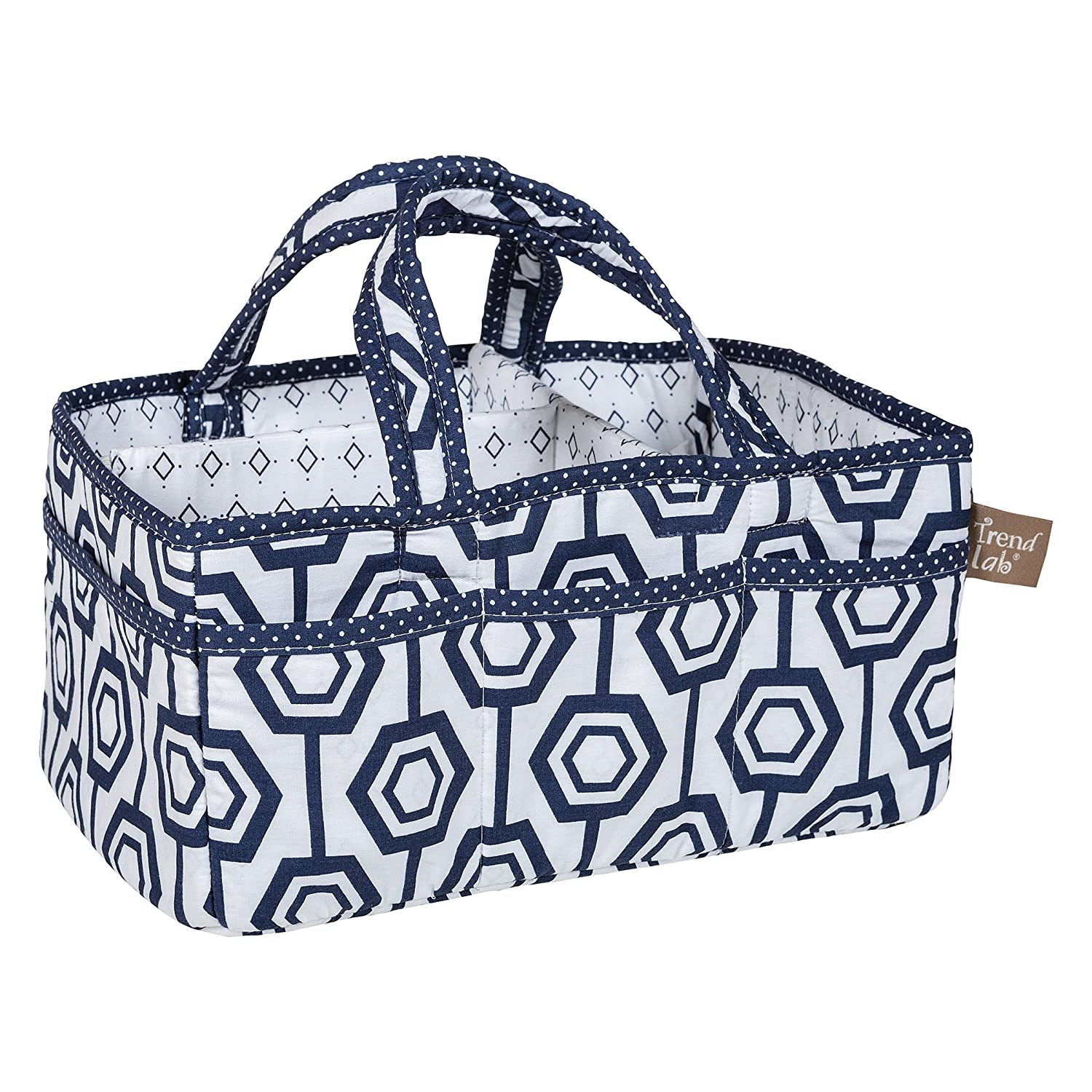 Trend Lab Hexagon Storage Caddy, Navy/White 102696