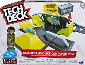 TECH DECK, Transforming SK8 Container Pro Modular Skatepark and Board, for Ages 6 and Up (Edition May Vary)