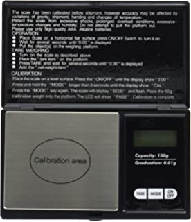 Weighmax Classic 3805 Series Digital Pocket Scale, 100 by 0.01g, Black