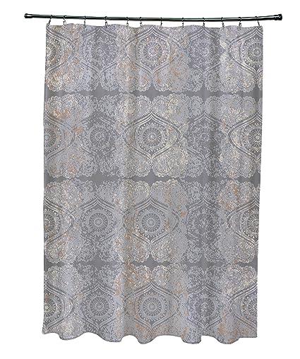 Amazoncom E By Design 71 X 74 Patina Geometric Print Shower