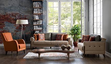 Gentil ISTIKBAL Multifunctional Furniture Living Room Set (1 Sofa, 1 Love Seat, 1  Arm