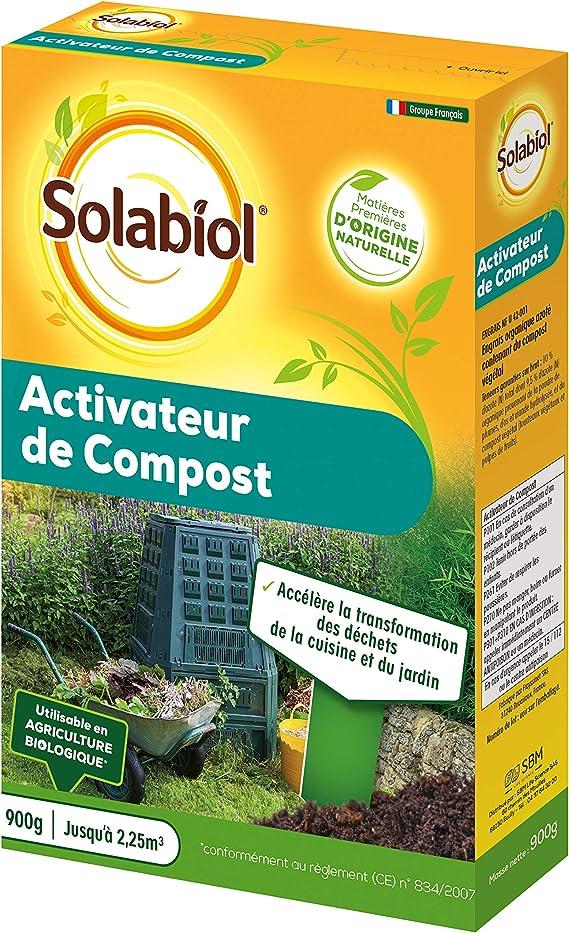 Solabiol SOACTI900 ACTIVADOR DE COMPOTO Natural - Listo para Usar 900 G - Se Puede Utilizar en Agricultura biológica, 16 x 5 x 23 cm: Amazon.es: Jardín
