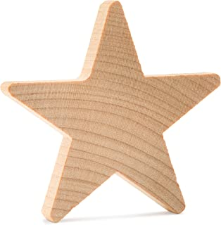 product image for 1 Inch Wooden Stars, Natural Unfinished Wooden Star Cutout Shape - Bag of 100 by Woodpeckers