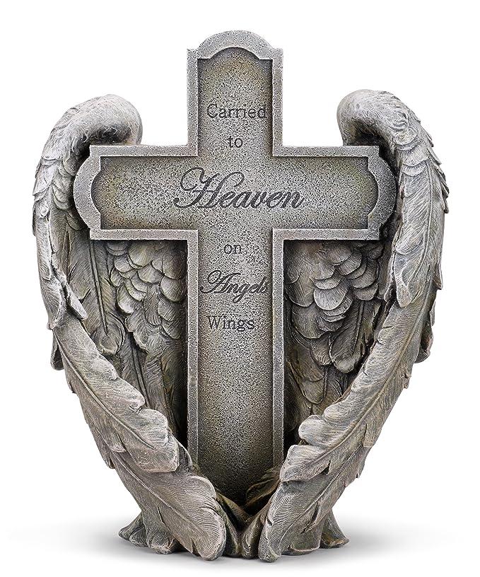 Angel Wings Heaven Cross Memorial 11