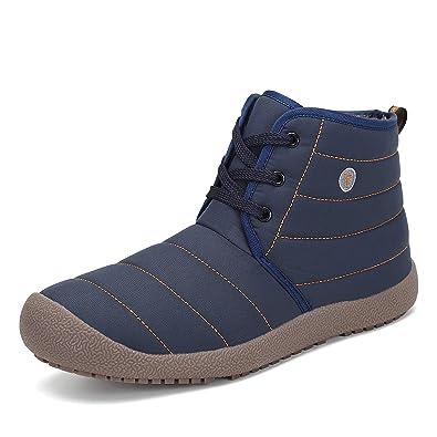 dd51947d85a9 SAGUARO Herren Damen Winterschuhe Warm Gefütterte Boots Stiefelette Outdoor  Schneestiefel Winter Schuhe Lace Blau 35 EU