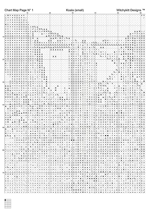 Koala – Kreuzstich Diagramm/Muster [PDF on a CD] Smaller Chart ...