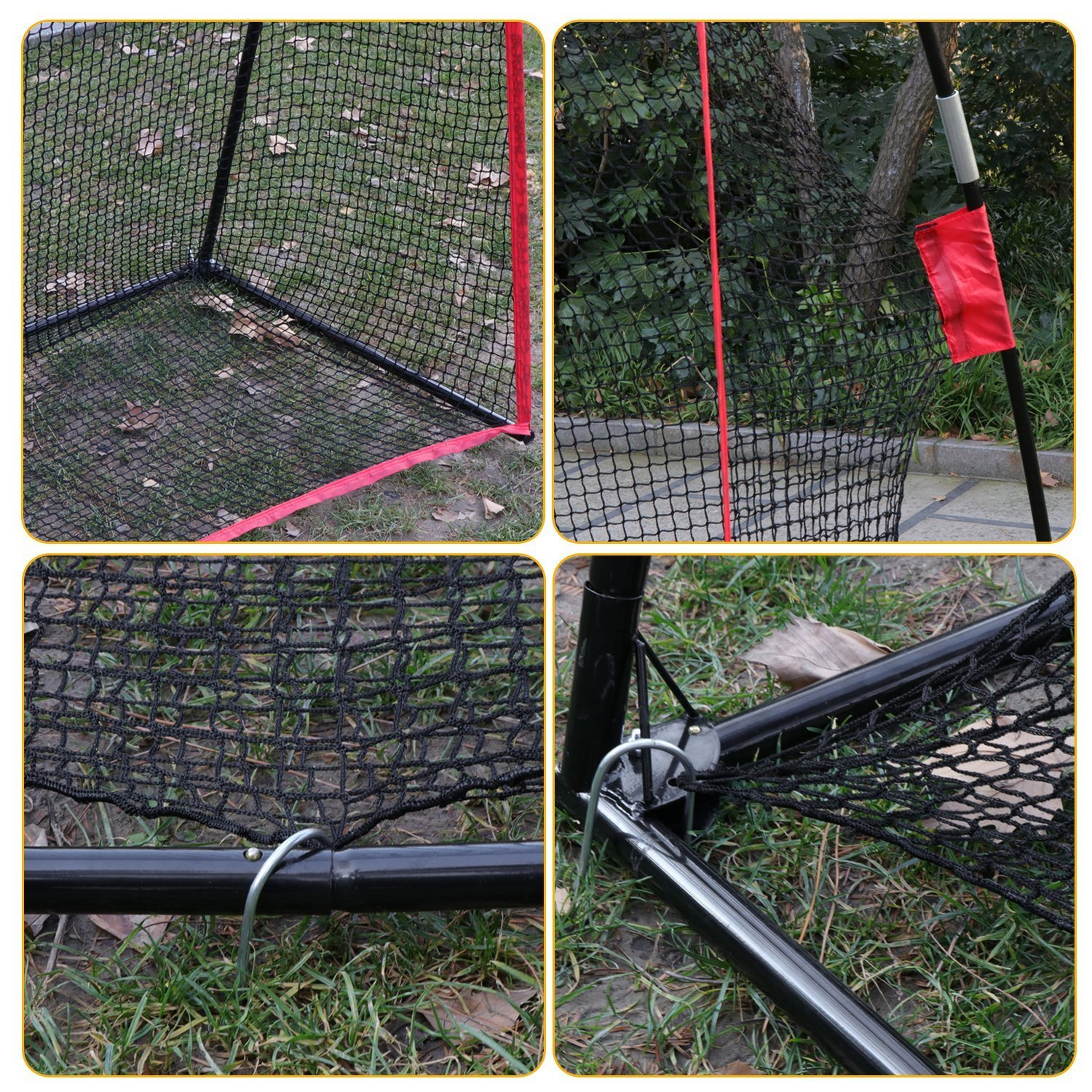 Fashine 10 x 7ft Golf/Baseball/ Soccer/Lacrosse Training Pitching Hitting Net Practice Driving Indoor and Outdoor with Bow Frame and Carrying Bag (US Stock) by Fashine (Image #5)