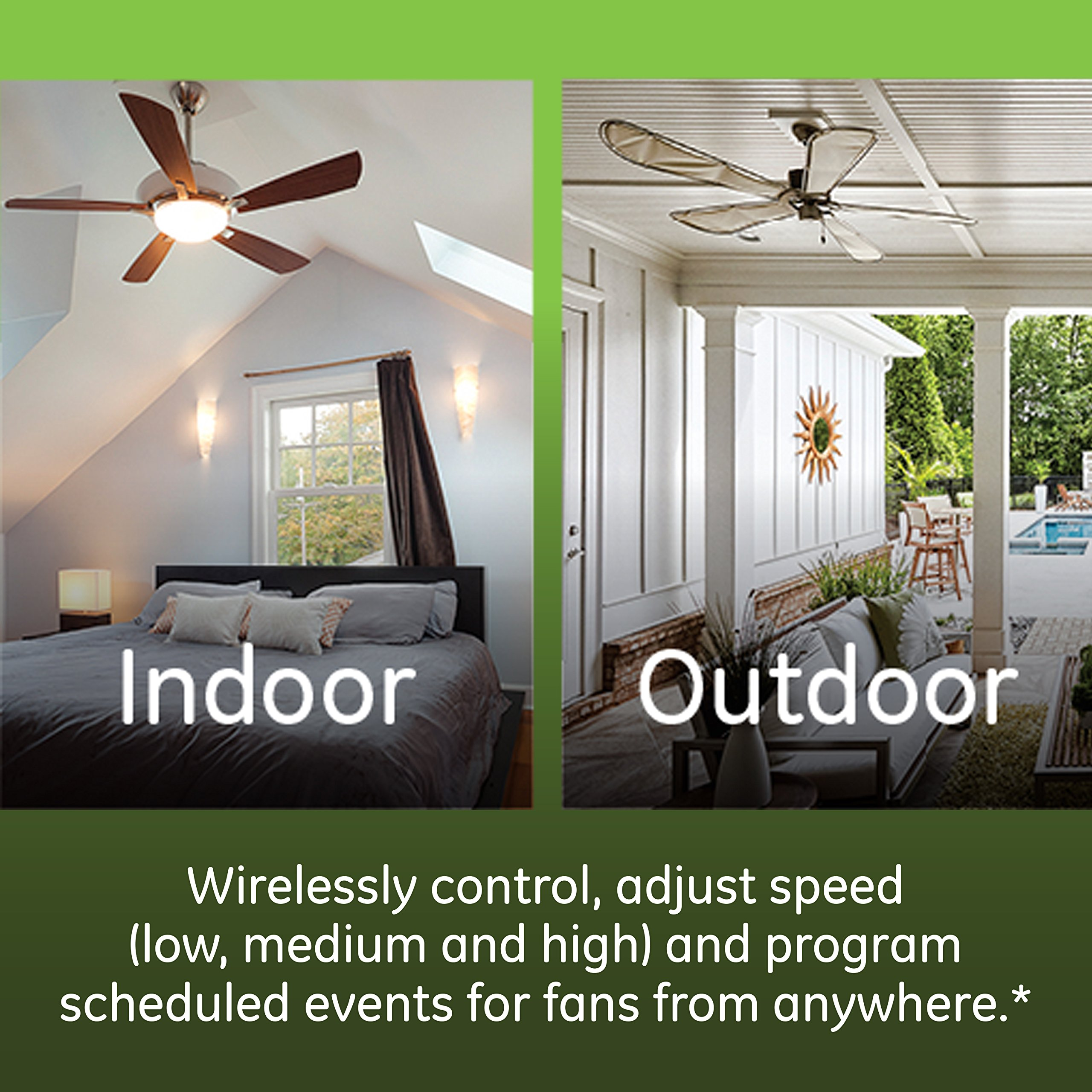 GE Enbrighten Z-Wave Plus Smart Fan Control, Speed ONLY, in-Wall, Includes White & Lt. Almond Paddles, Zwave Hub Required, Works with SmartThings Wink and Alexa, 14287 by GE (Image #3)