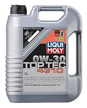 Liqui Moly Top Tec 4310 0W-30 Aceite de Motor, 5 litros