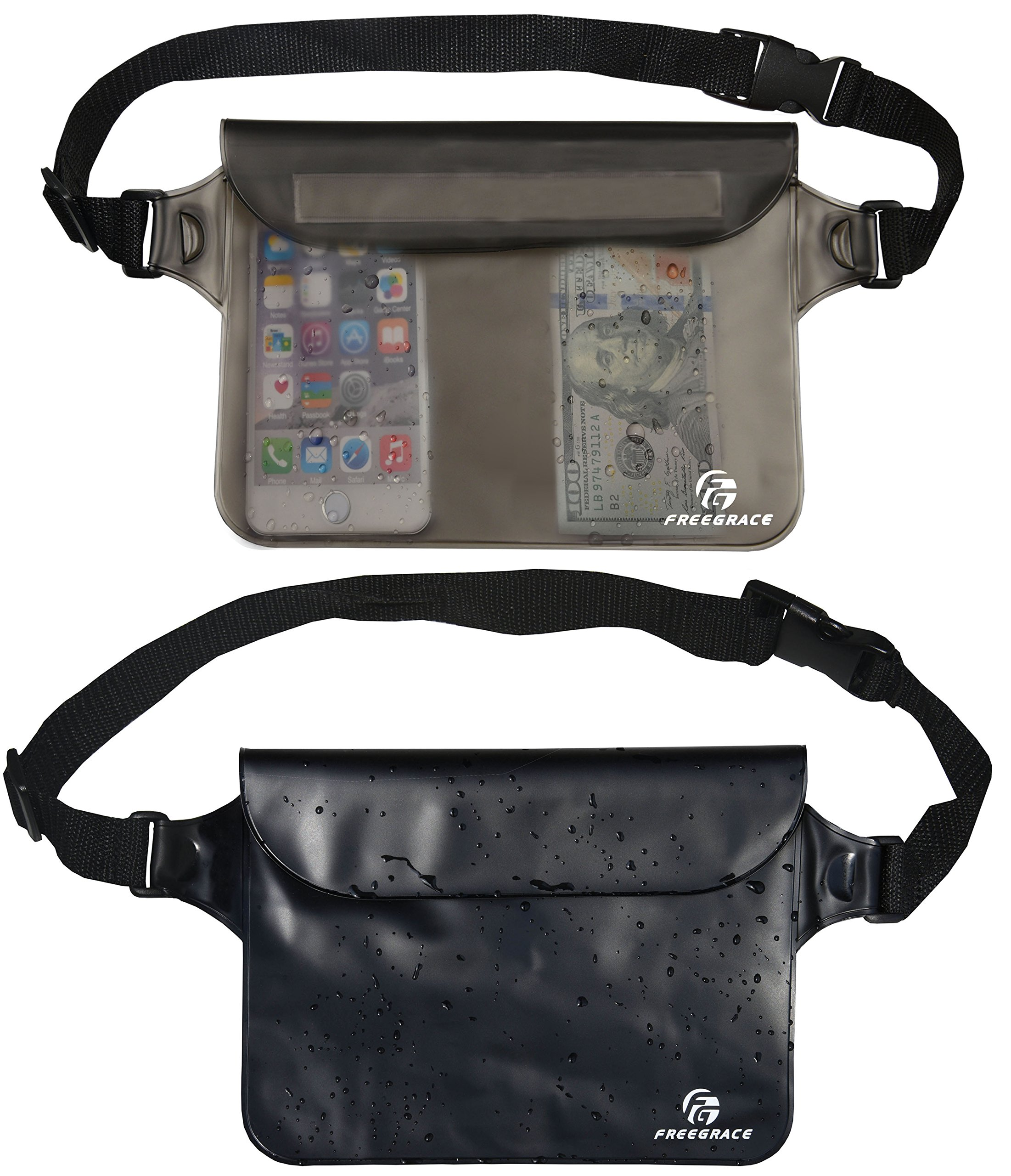 Freegrace Premium Waterproof Pouch Set with Waist Shoulder Strap - Best Way  to Keep Your 5604be7efc