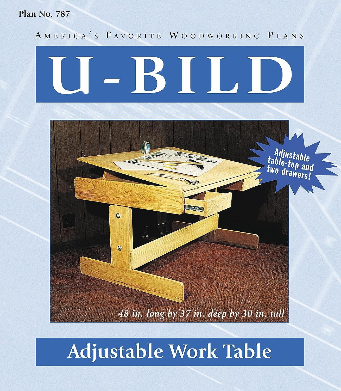 U Bild 787 2 U Bild 2 Adjustable Work Table Project Plan   Indoor Furniture  Woodworking Project Plans   Amazon.com