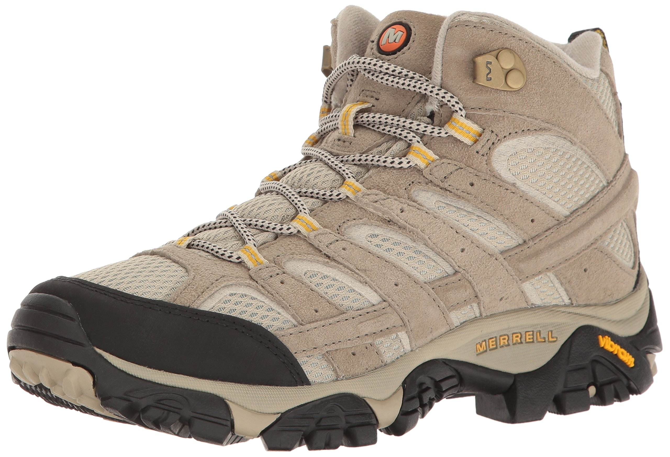 Merrell Women's Moab 2 Vent Mid Hiking Boot, Taupe, 6.5 W US by Merrell