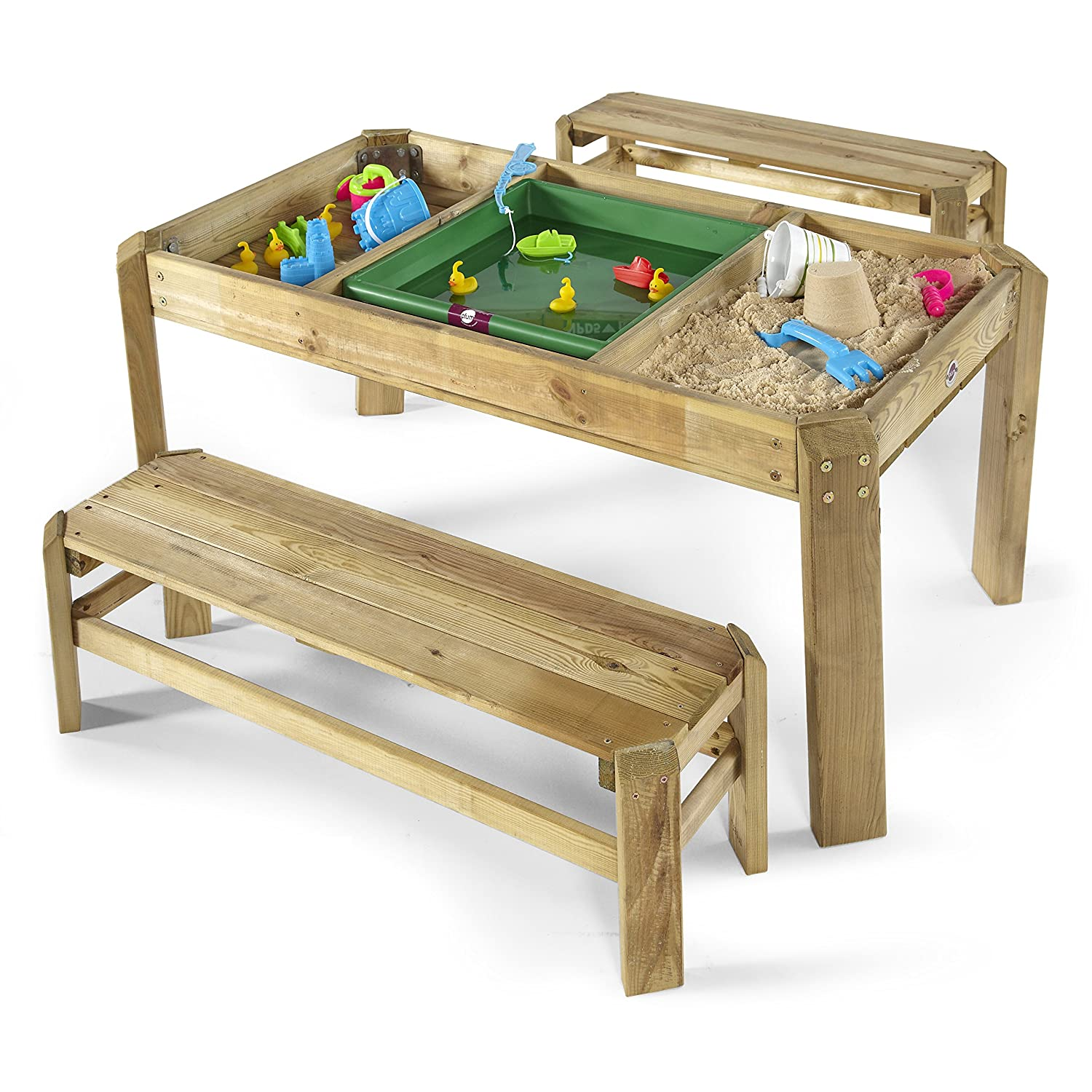 plum premium wooden activity table with benches amazoncouk  - plum premium wooden activity table with benches amazoncouk toys  games