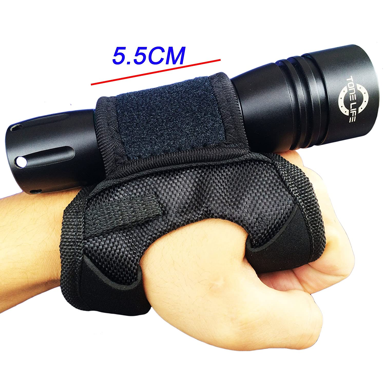 Tonelife Neoprene Goodman Style Glove 03 Universal Adjustable Hand and Arm Strap Waist Strap Soft Hand Mount for Scuba Dive Lights Led Flashlight(glove Only, no Torch)