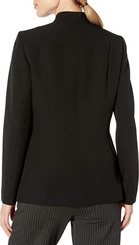 Kasper Womens Solid Flyaway Shawl Jacket