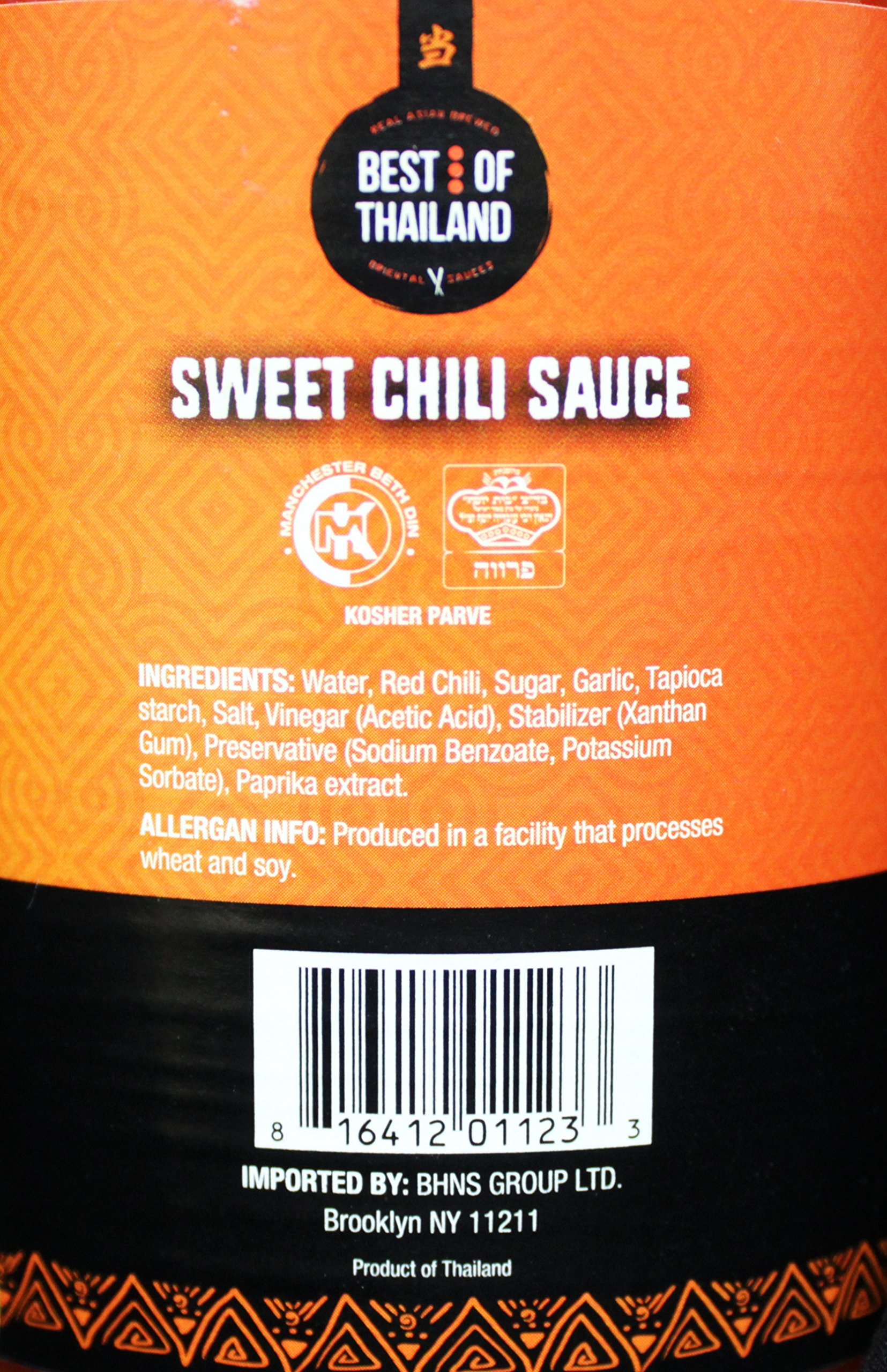 Sweet Chili Sauce (2 Pack) Real Asian Brewed – No MSG – Kosher Certified – Sweet & Spicy Dressing for Barbeque Chicken, Grilled Food, Fish, Meat – Convenient Bottle Size: 23.6 fl-oz – Best of Thailand by Best of Thailand (Image #4)