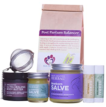5b4dfd7e8d8 Amazon.com  New Mama Gift Set Natural Baby Gift for New Mom and Baby ...