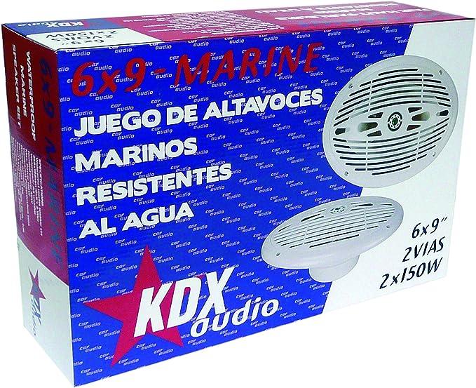 Kdx Audio 6 X 9 Marine Lautsprecher Set Für Boote Weiß Navigation