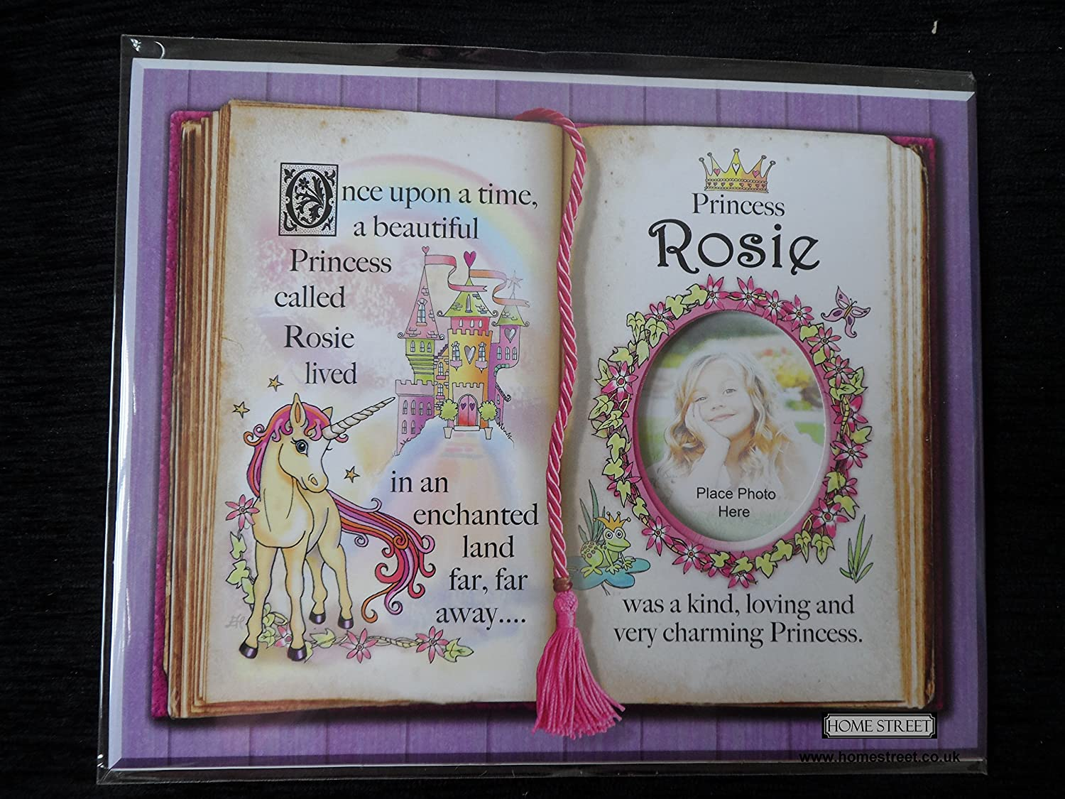 Gift For Rosie Princess Unicorn Mount With Special Verse And Choice Of Photo Frame (White Frame) Homestreet