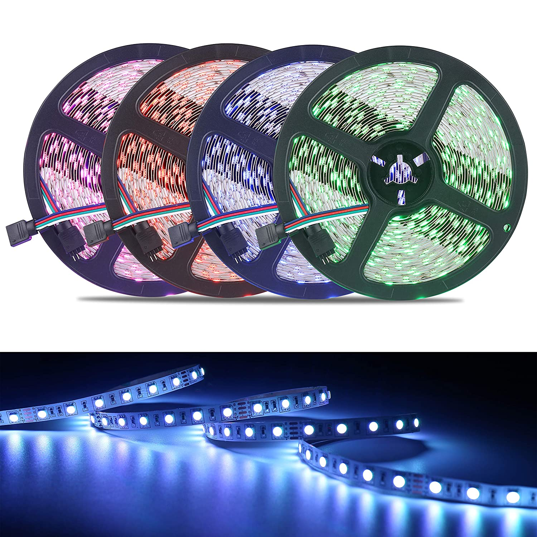 Cambiamento Delicato di Colore Striscia LED 10M ALED LIGHT LED Strip 10 Metri 600 LEDs Kit 5050 RGBW SMD Nastri Led Non Impermeabile 24V Alimentatore Telecomando a 44 Tasti Recettore