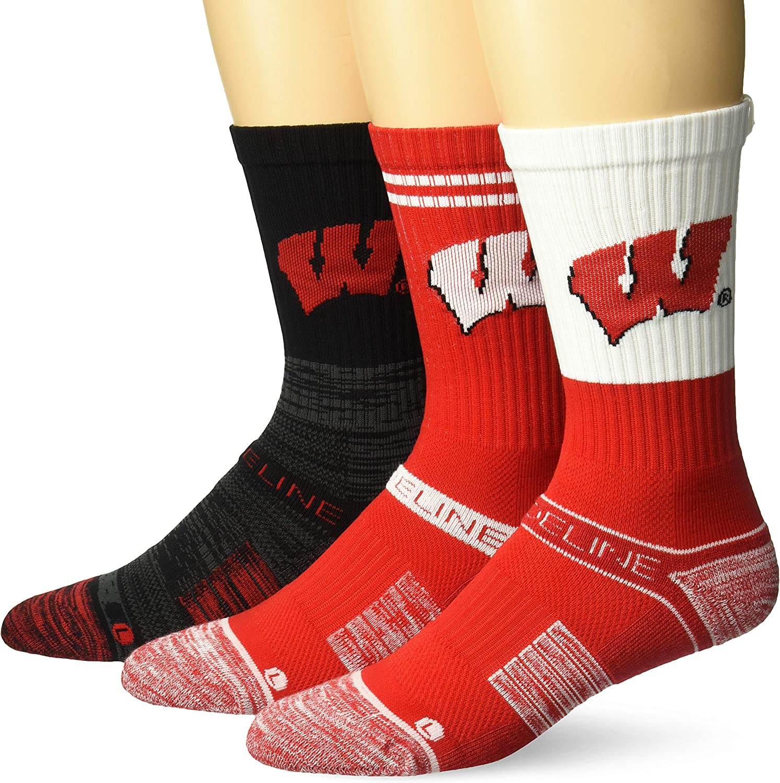 Strideline NCAA mens Strideline Crew Socks 3 Pack