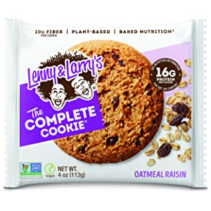 Lenny & Larry's The Complete Cookie, Oatmeal Raisin, 4 oz (Pack of 12) Soft Baked