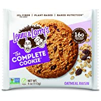 Lenny & Larry's The Complete Cookie, Oatmeal Raisin, Soft Baked, 16g Plant Protein...