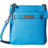 COACH Women's Pebbled Leather Coach Swagger Swingpack SV/Azure Cross Body