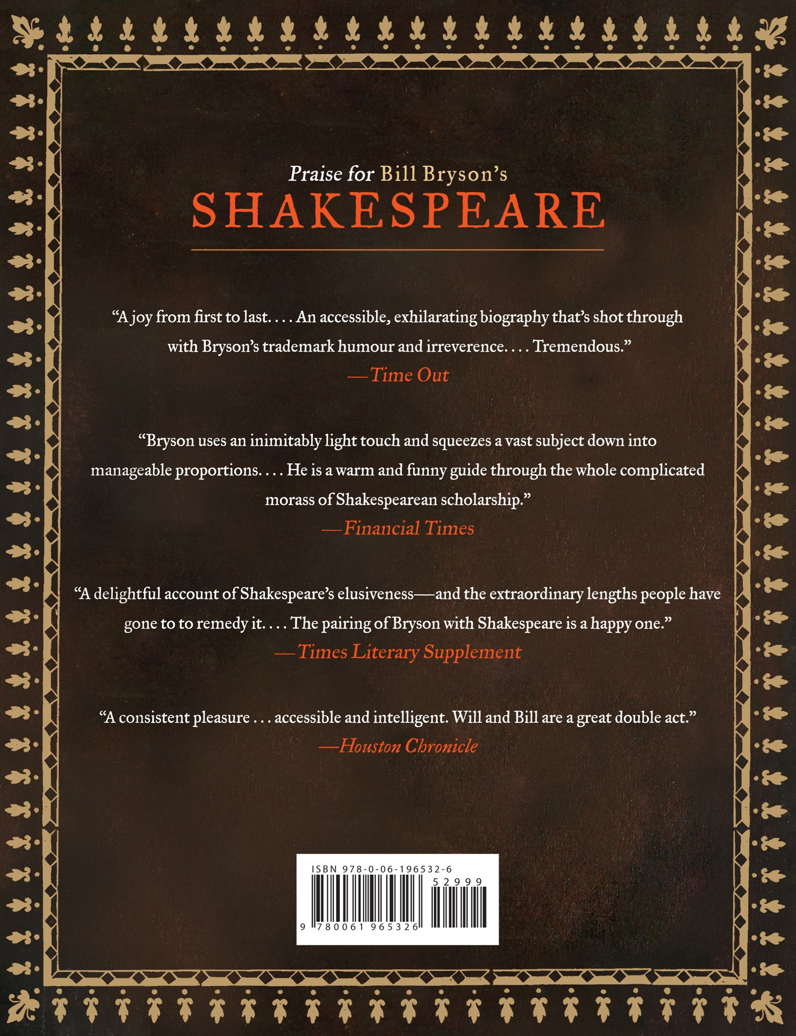 Amazon: Shakespeare (the Illustrated And Updated Edition)  (9780061965326): Bill Bryson: Books