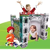 PRIME 100% RECYCLED ECO-FRIENDLY Cardboard Giant Play Castle Colour Your Own for Kids and Pets an Exciting and Unique Best Ever Educational Toy Designed to Assist in the Early Stages of Your Child's Education