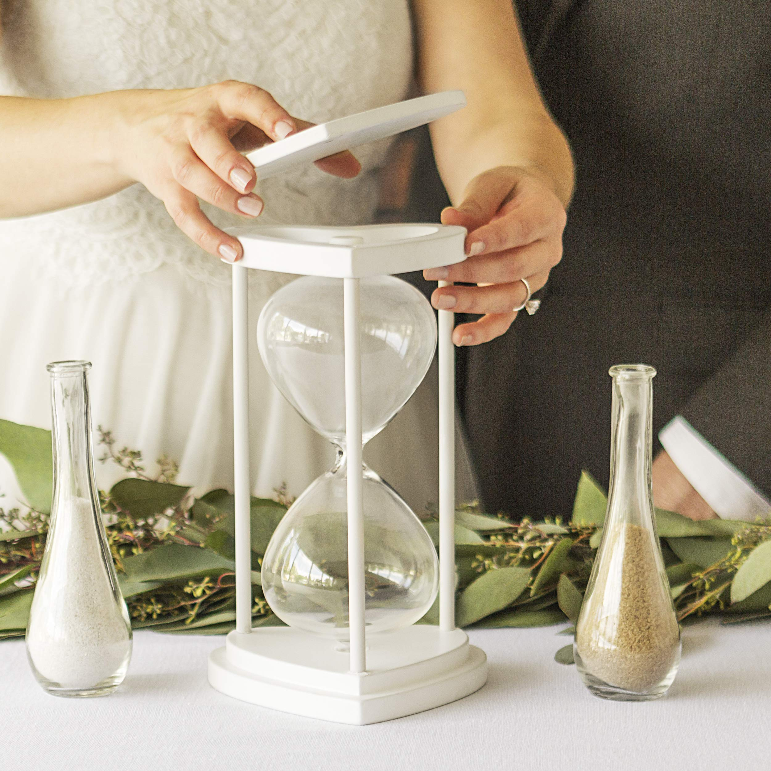 Cathy's Concepts Personalized Floral Unity Sand Ceremony Hourglass Set by Cathy's Concepts (Image #4)