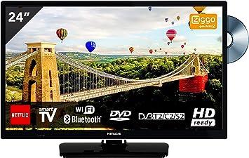 Hitachi - Televisor de 24 pulgadas con reproductor de DVD (HD ...