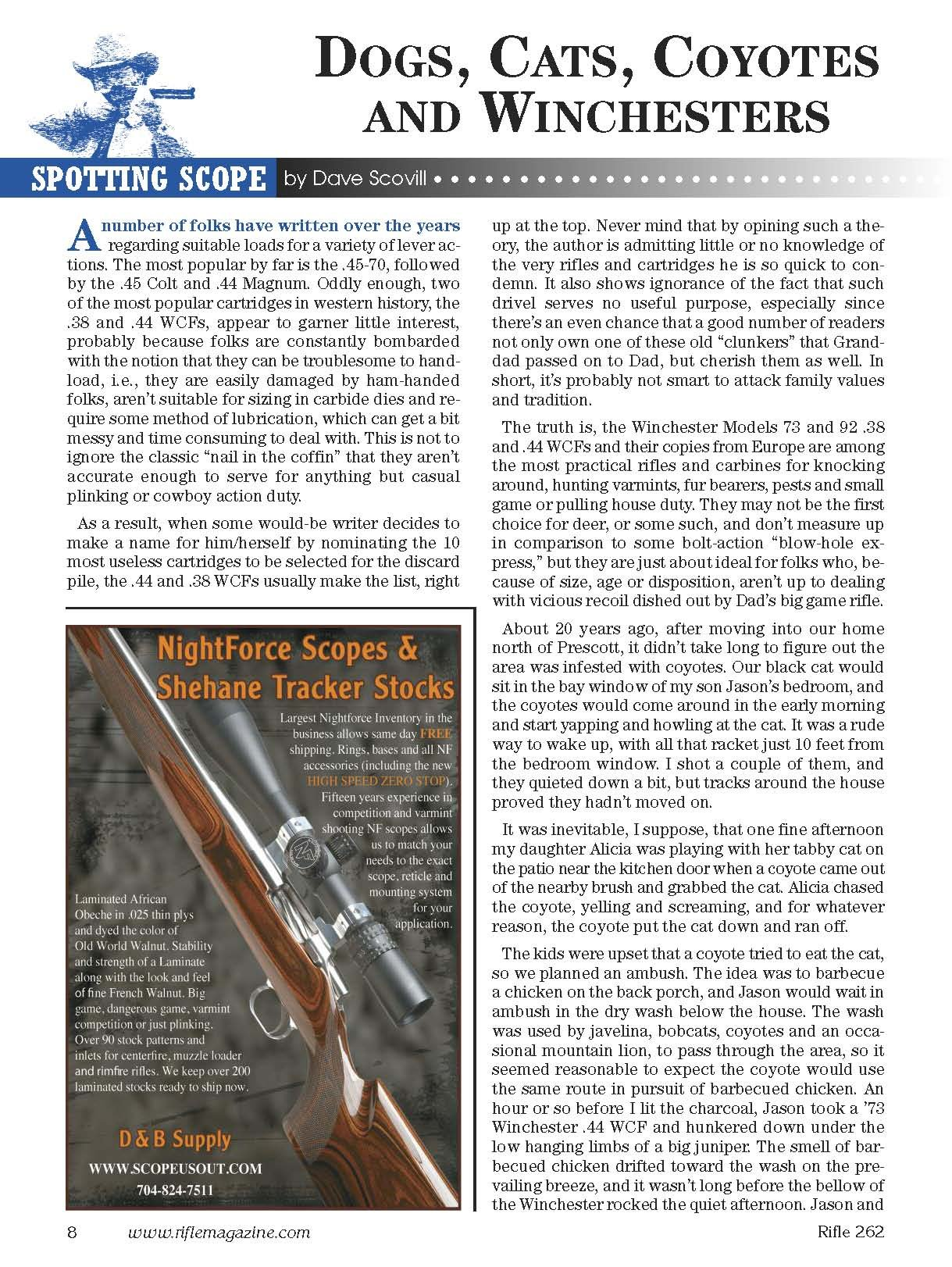 Rifle Magazine - May 2012 - Issue Number 262: Dave Scovill