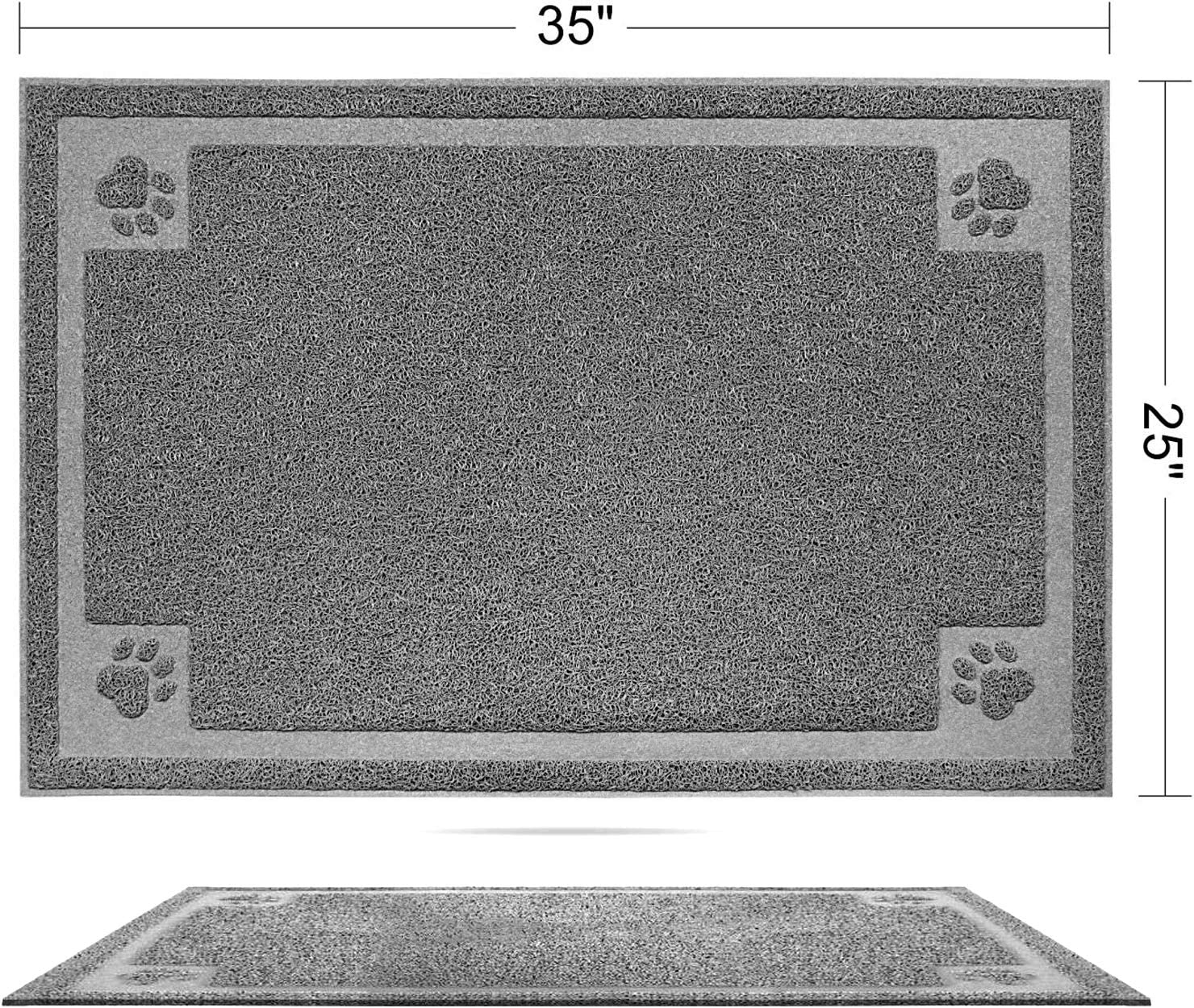 SHUNAI Pet Feeding Mat for Dogs and Cats 35 x 25 Inches Extra Large Flexible and Waterproof Pet Food and Water Bowl, Easy to Clean Dog Food Mat Floors with Non Slip Back