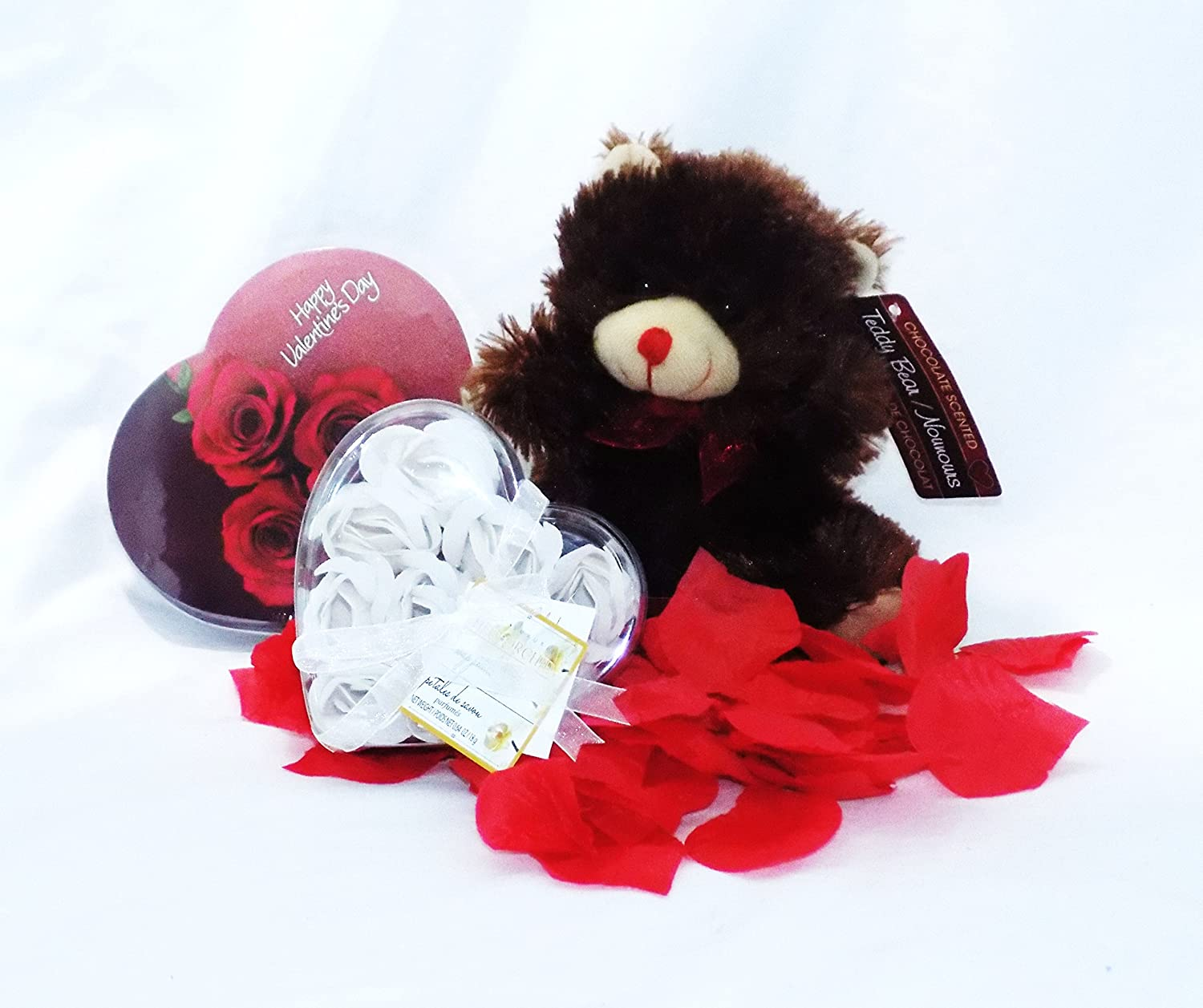 Amazon.com : Valentine's Day Chocolate Roses and Teddy Bear Gift ...