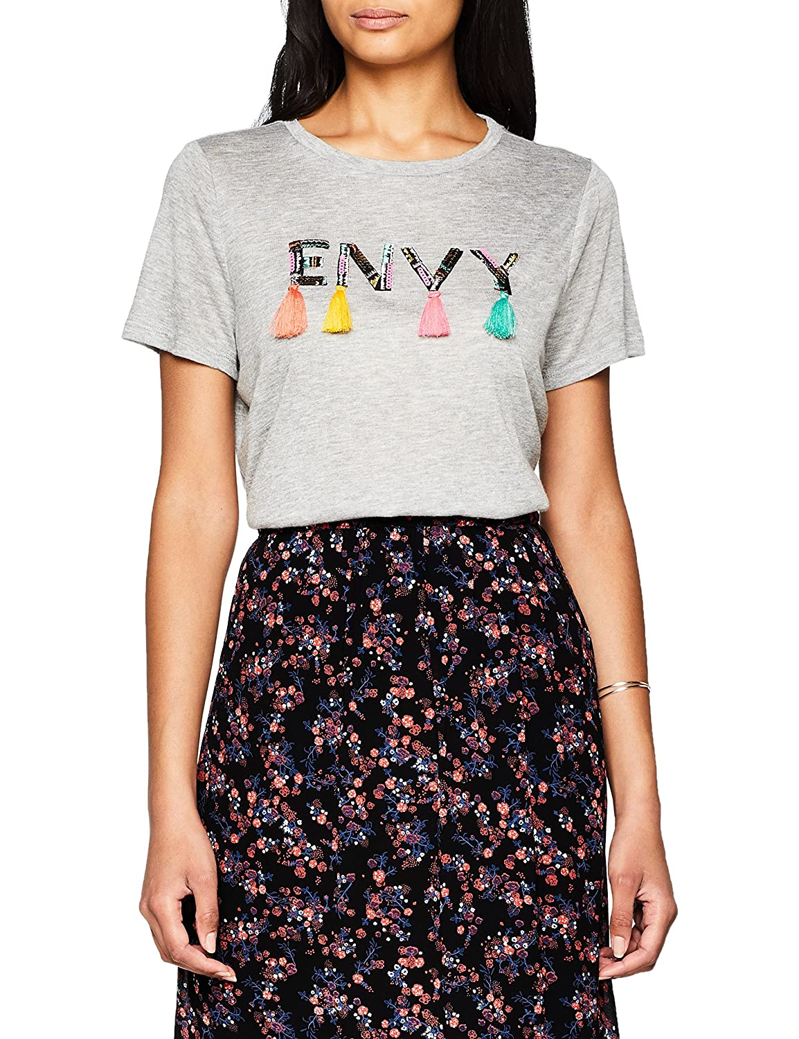 Only Onlpami S/S Tassel Print Top Box Jrs, Camiseta para Mujer