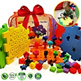 Skoolzy Shape Sorter Pegboard Toddler Puzzles - Educational Toys for 1 2 3 4 Year Old Boys and Girls | 7 in 1 Stacking Peg Board Set | Preschool Fine Motor Skills Travel Toddler Toys & Activity eBook