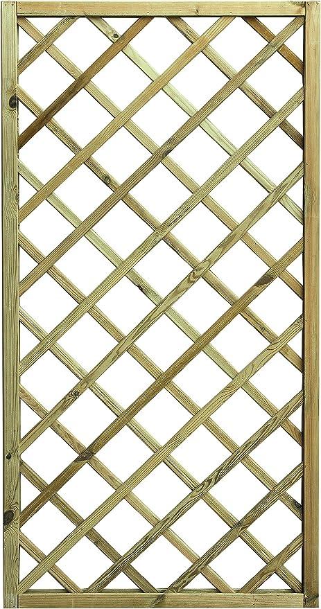 PANNELLO GRIGLIATO QUADRO IN LEGNO IMPREGNATO 90x90H cm.