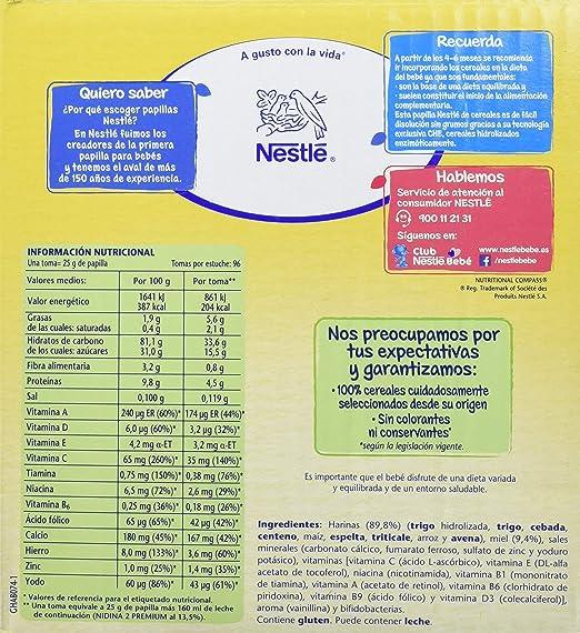 NESTLÉ Papilla 8 Cereales con miel 2400 g: Amazon.es: Alimentación y bebidas