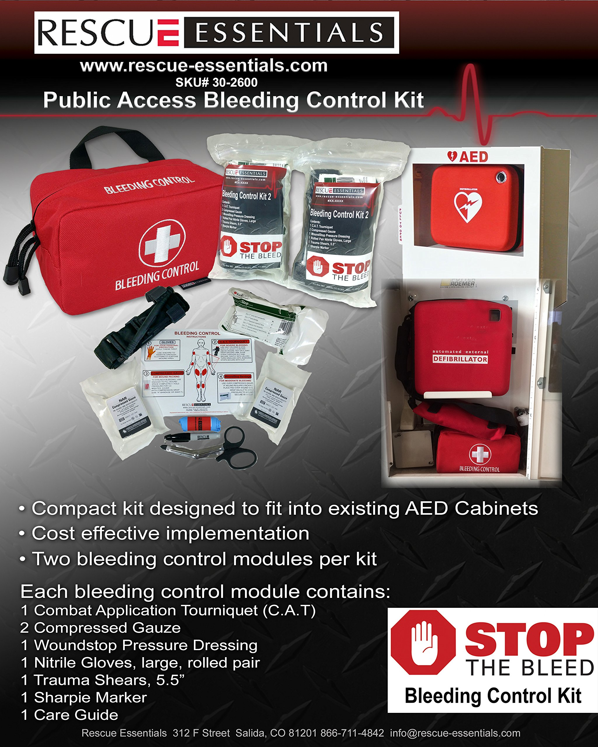 Stop The Bleed KIT - Public Access by Rescue Essentials