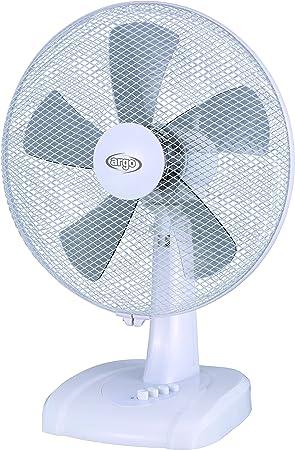 ARGO 398200014 Ventilador de Sobremesa, 33.92 W, 240 V, Blanco, 40 ...