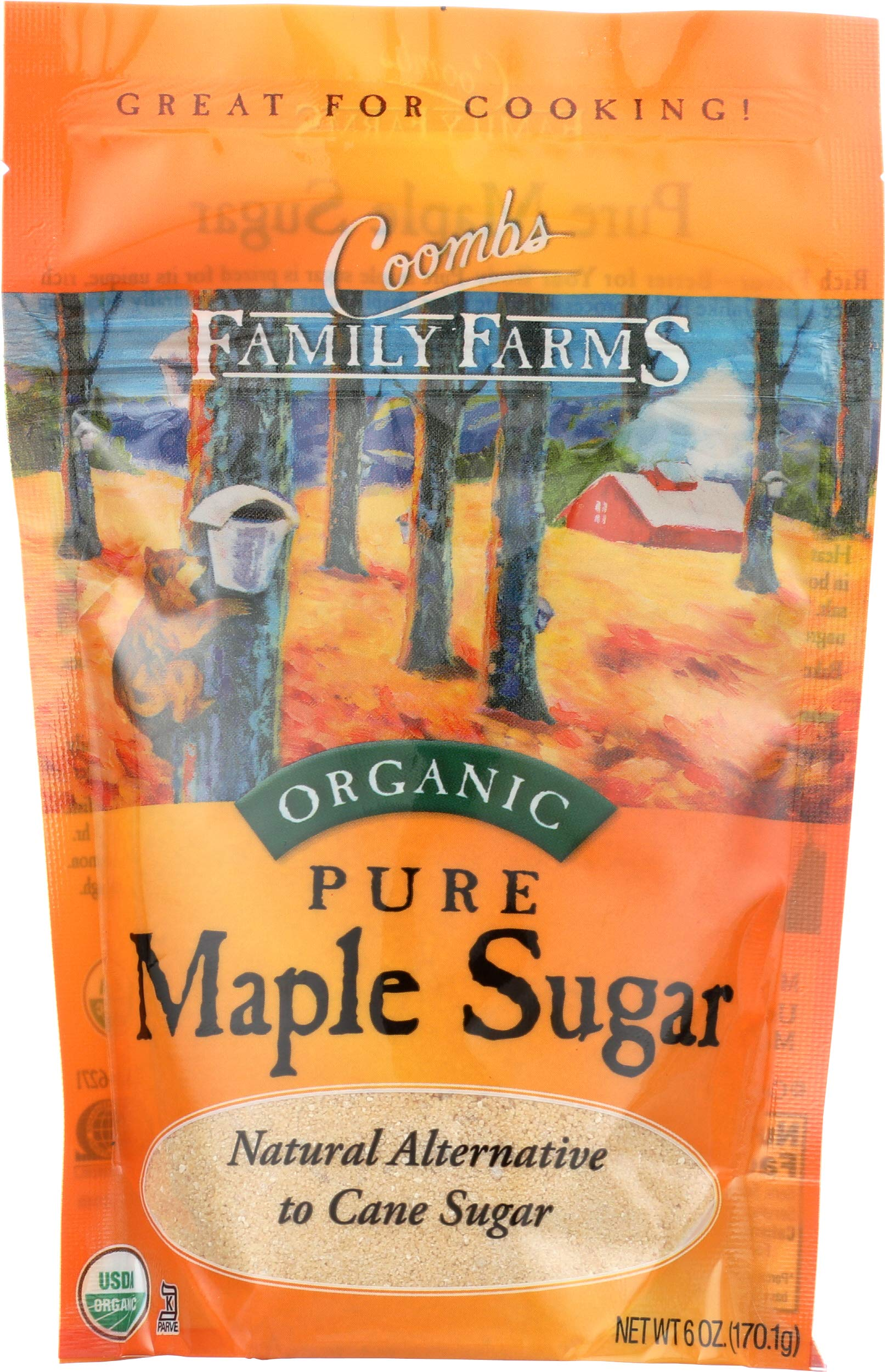 Coombs Family Farms Organic Pure Maple Sugar, Original, 6 oz