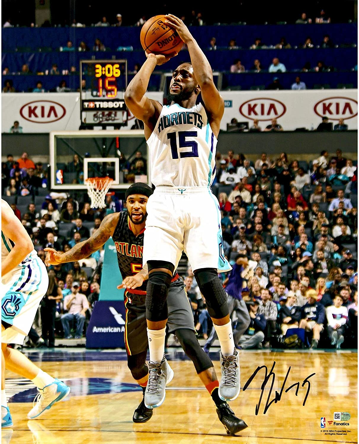 Kemba Walker Charlotte Hornets Autographed 16' x 20' Shooting Photograph - Fanatics Authentic Certified