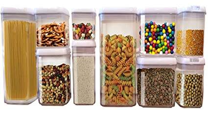 Amazon Com Scotty S Tm 10 Pc Airtight Food Storage Container Set